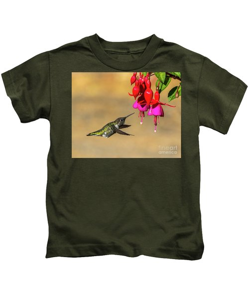 Anna And Hardy Fuchsia Flower Kids T-Shirt