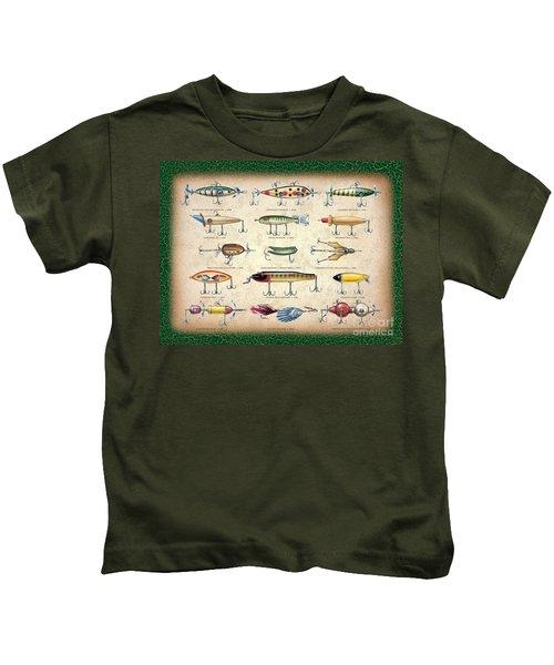 Antique Lures Panel Kids T-Shirt