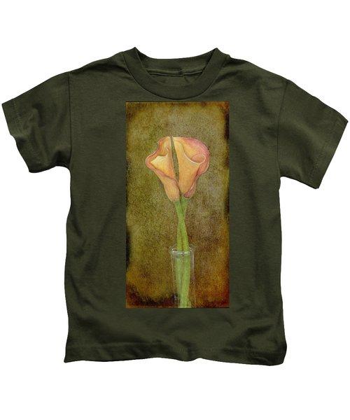 Antiqued Lilies Kids T-Shirt