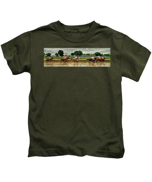 Approaching The Far Turn Kids T-Shirt