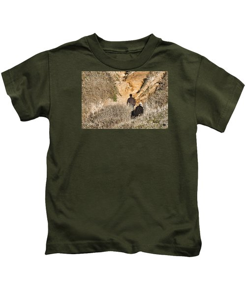 Approaching The Incline Kids T-Shirt