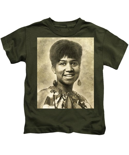 Aretha Franklin Queen Of Soul Kids T-Shirt