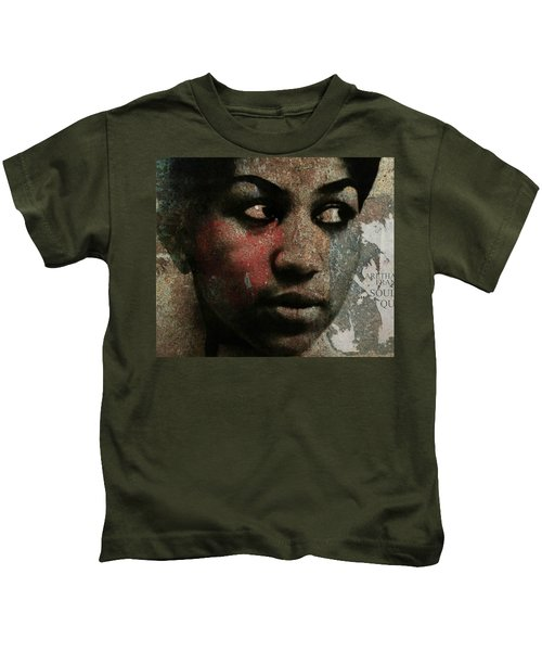 Aretha Franklin - Tribute Kids T-Shirt