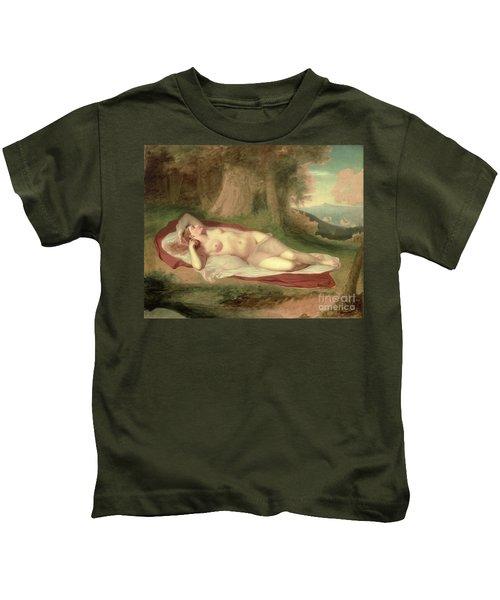 Ariadne Asleep On The Island Of Naxos Kids T-Shirt