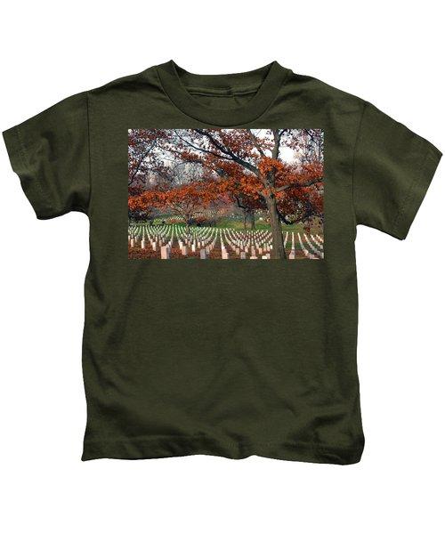 Arlington Cemetery In Fall Kids T-Shirt
