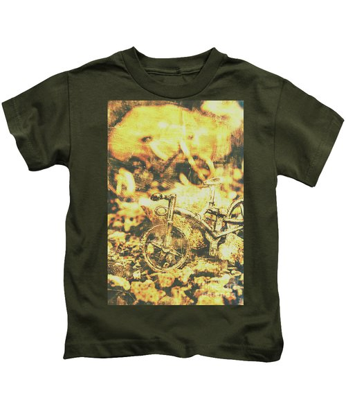 Art Of Mountain Biking Kids T-Shirt
