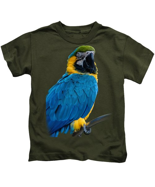 Blue Yellow Macaw No.2 Kids T-Shirt