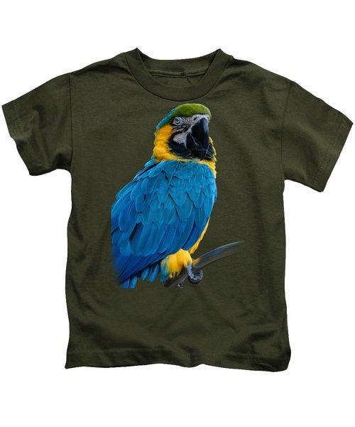 Blue Yellow Macaw No.2 Kids T-Shirt