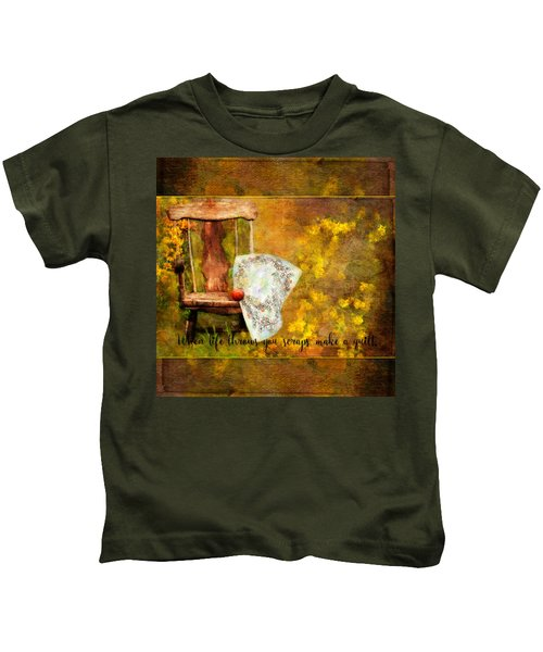 When Life Throws You Scraps, Make A Quilt Kids T-Shirt