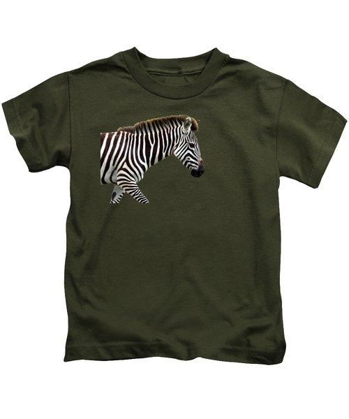 Zebra Kids T-Shirt by Aidan Moran