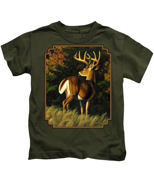 Whitetail Buck - Indecision Kids T-Shirt