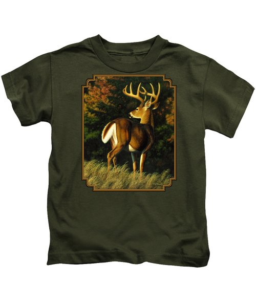 Whitetail Buck - Indecision Kids T-Shirt