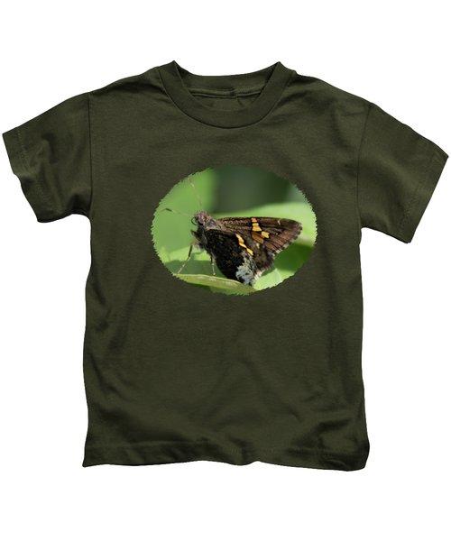 Hoary Edge Skipper On Leaf Kids T-Shirt