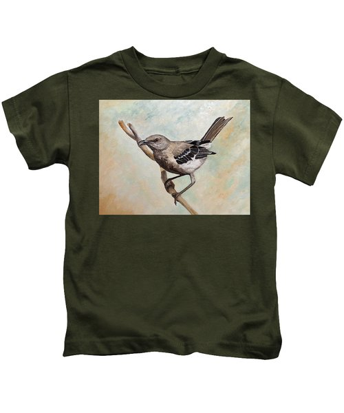 Sharp-eyed Mockingbird Kids T-Shirt