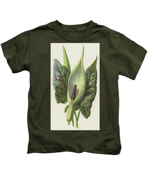 Arum, Cuckoo Pint Kids T-Shirt by Frederick Edward Hulme