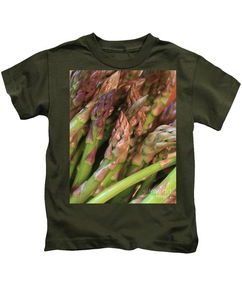 Asparagus Tips 2 Kids T-Shirt by Carol Groenen