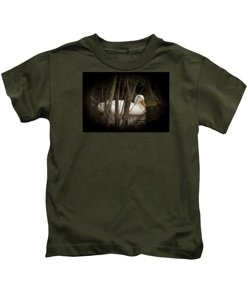 At Home In The Creek Kids T-Shirt