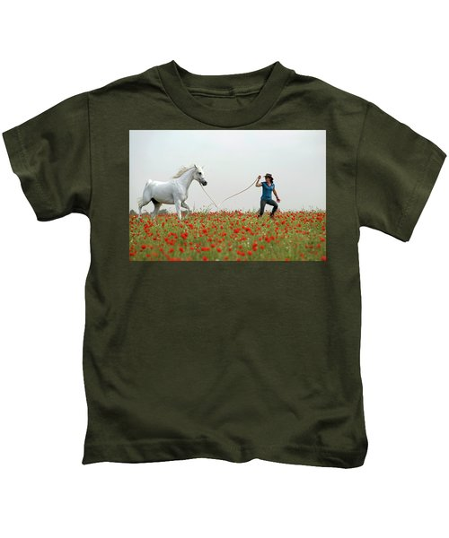At The Poppies' Field... 2 Kids T-Shirt
