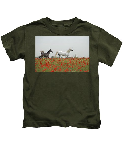 At The Poppies' Field... Kids T-Shirt