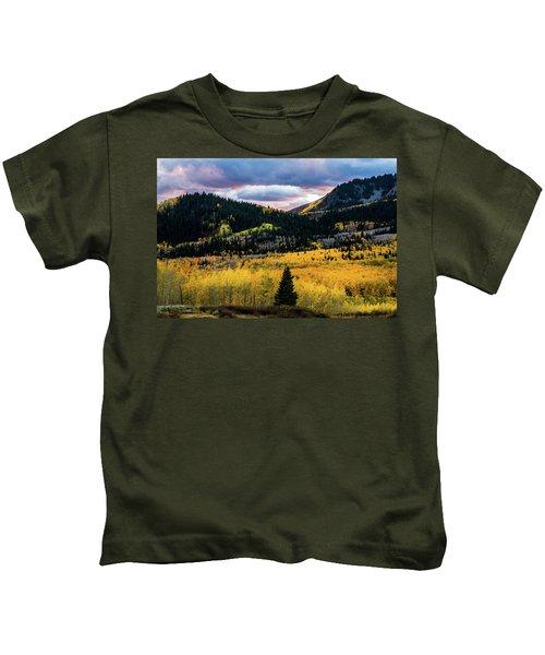 Autumn At Guardsman Pass Kids T-Shirt