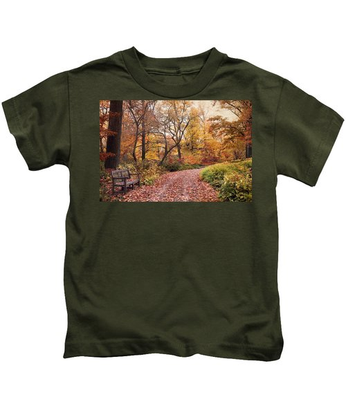 Autumn Azalea Garden Kids T-Shirt