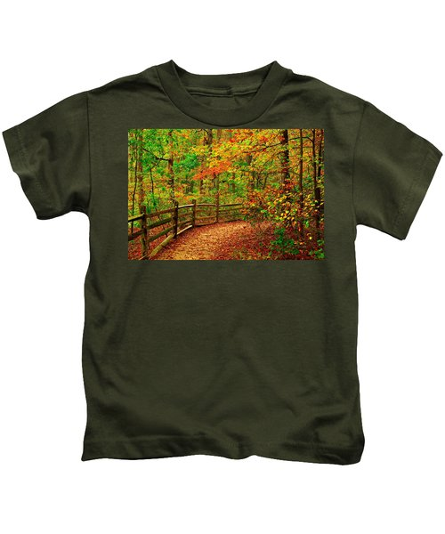 Autumn Bend - Allaire State Park Kids T-Shirt