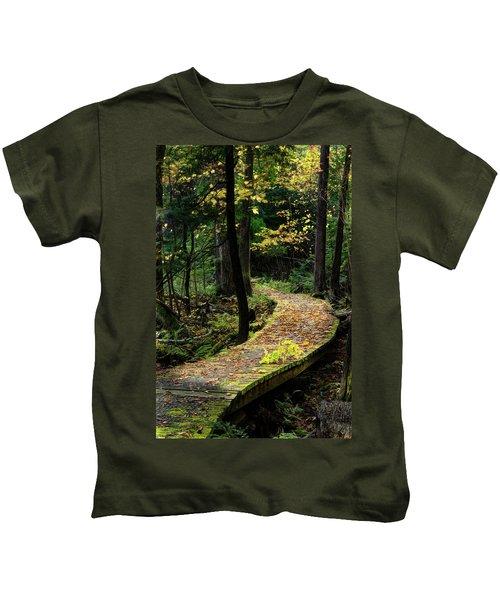 Autumn Boardwalk Kids T-Shirt