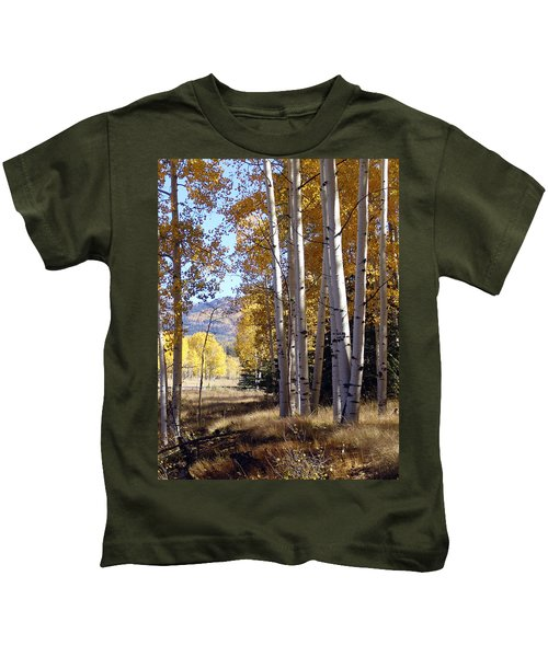 Autumn Chama New Mexico Kids T-Shirt