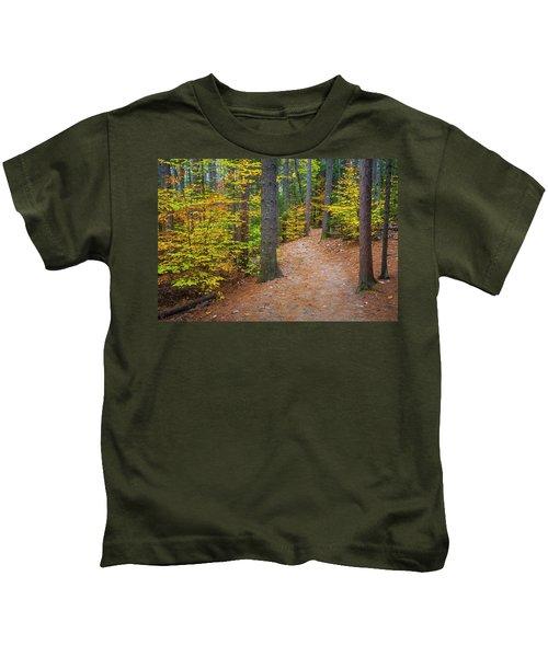 Autumn Fall Foliage In New England Kids T-Shirt