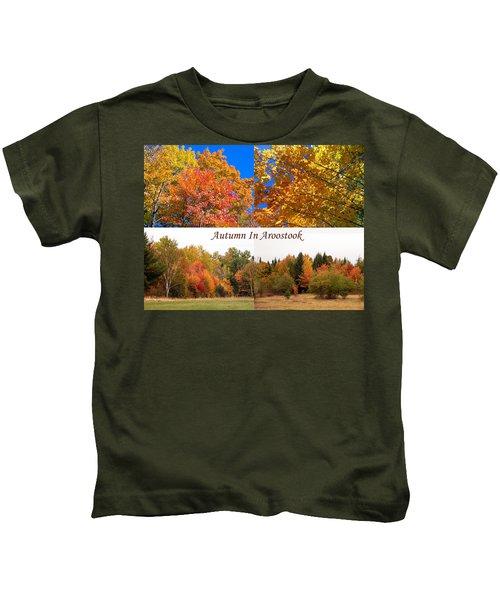 Autumn In Aroostook Collage Kids T-Shirt