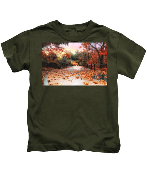 Autumn In Discovery Lake Kids T-Shirt