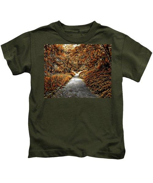 Autumn In Stamford Kids T-Shirt