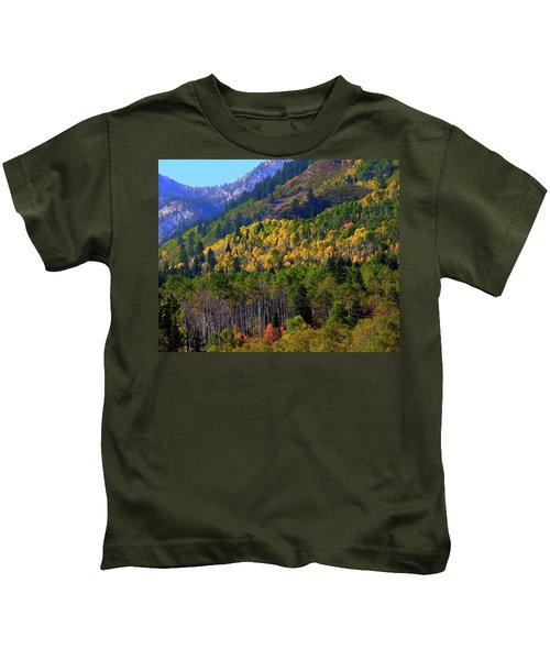 Autumn In Utah Kids T-Shirt