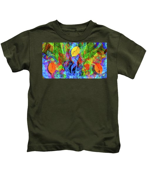 Autumn Leaves Abstract Kids T-Shirt