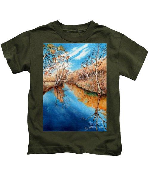 Autumn On The Elkhorn Kids T-Shirt