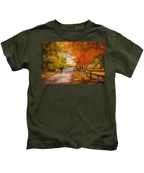 Autumn Path Kids T-Shirt