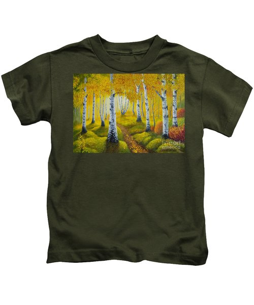 Autumn Path Kids T-Shirt