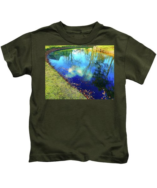 Autumn Reflection Pond Kids T-Shirt