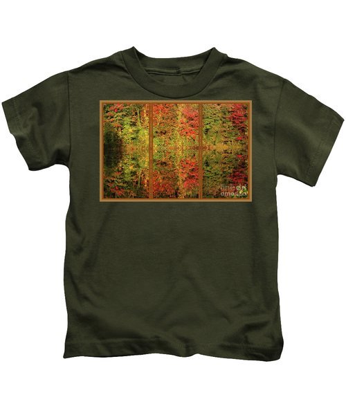 Autumn Reflections In A Window Kids T-Shirt
