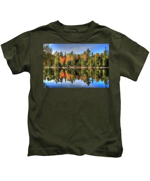 Autumn Reflections Of Maine Kids T-Shirt