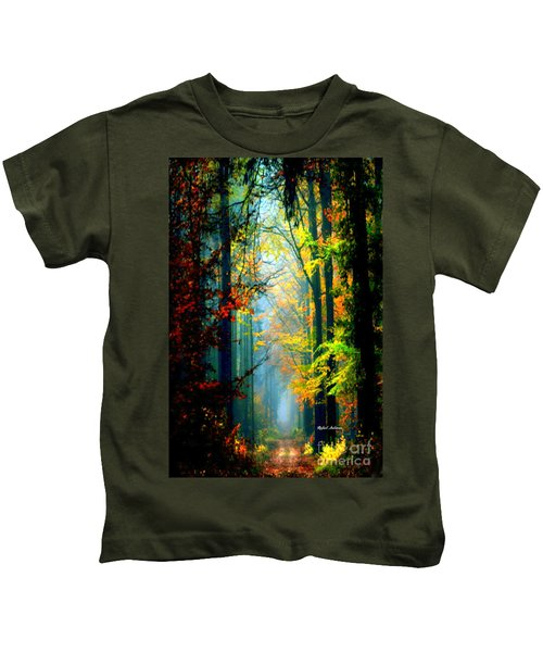 Autumn Trails In Georgia Kids T-Shirt