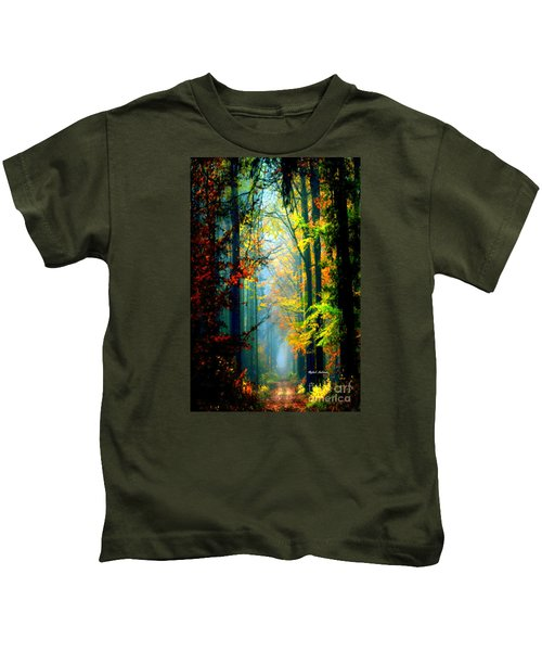 Autumn Trails In Georgia Kids T-Shirt