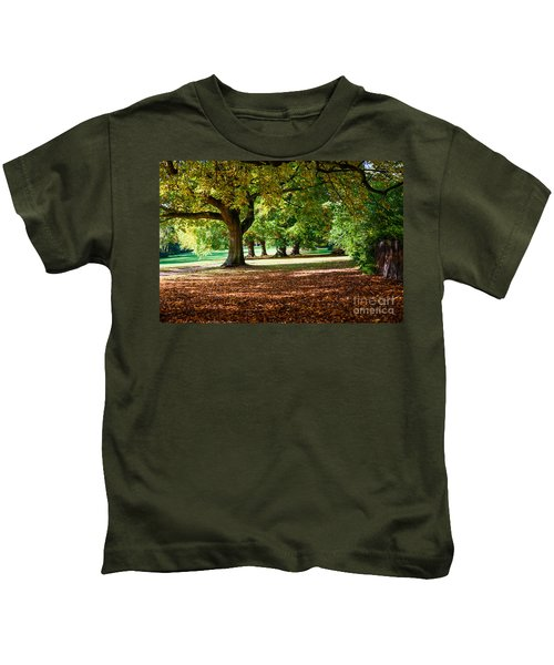 Autumn Walk In The Park Kids T-Shirt