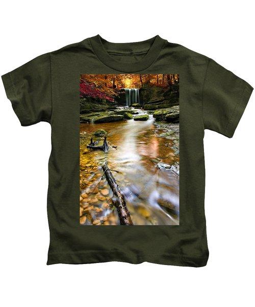 Autumnal Waterfall Kids T-Shirt