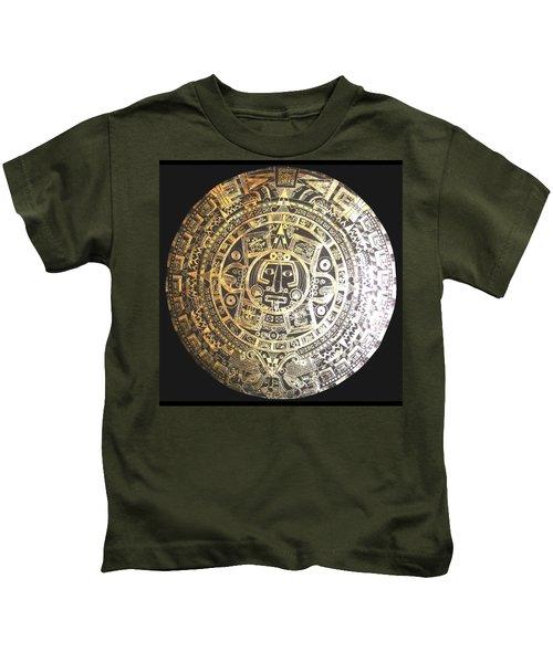 Aztec Calendar Kids T-Shirt