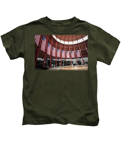 B And O Museum Roundhouse In Baltimore Maryland Kids T-Shirt