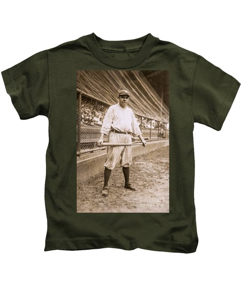 Babe Ruth On Deck Kids T-Shirt