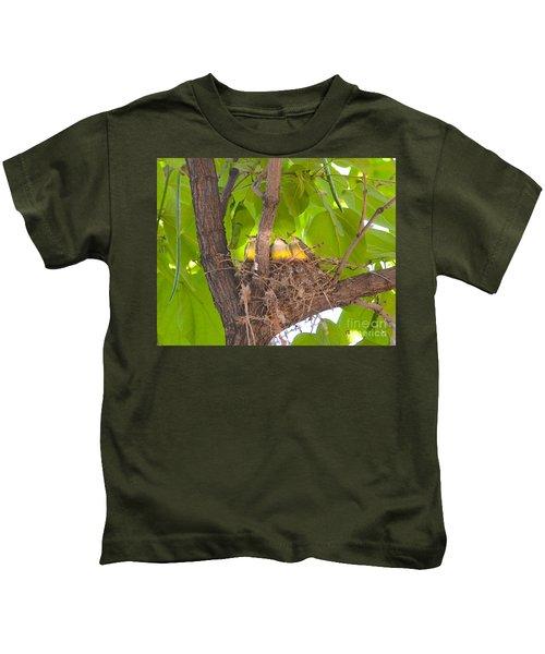 Baby Birds Waiting For Mom Kids T-Shirt