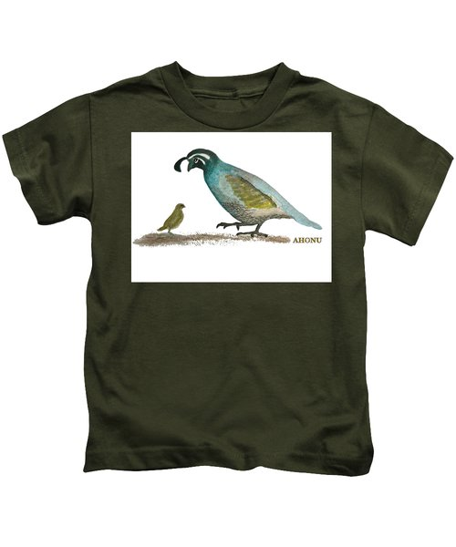 Baby Quail Learns The Rules Kids T-Shirt