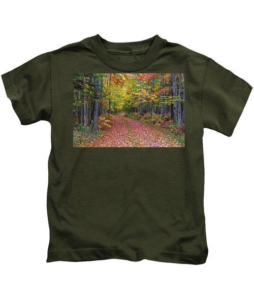 Back Road Color Tour  Kids T-Shirt